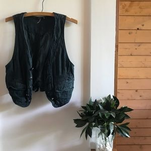 Free People Linen Vest